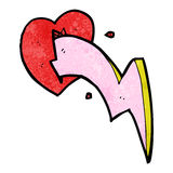 Cartoon lighting bolt heart Stock Photo