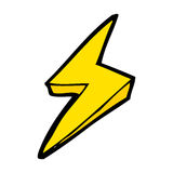 Cartoon lightning bolt symbol Stock Images