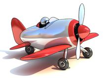 Cartoon like airplane 3d illustration Royalty Free Stock Image