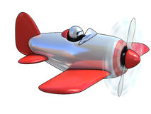 Cartoon like airplane 3d illustration Royalty Free Stock Photo