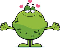 Cartoon Lime Hug Stock Images