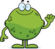 Cartoon Lime Waving Royalty Free Stock Images