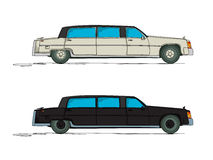 Cartoon limousine Stock Images