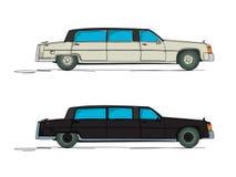 Cartoon limousine. Limousine cartoon over white background Stock Images