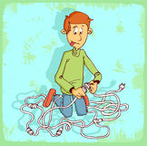 Cartoon link illustration , vector icon. Stock Images