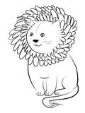 Cartoon lion Stock Photography