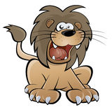 Cartoon lion. Illustration of a funny cartoon lion Royalty Free Stock Photos