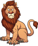 Cartoon lion. Angry cartoon lion. Vector clip art illustration with simple gradients. All in a single layer Royalty Free Stock Image