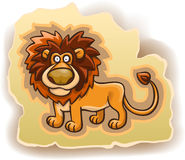 Cartoon lion on the background Royalty Free Stock Photography