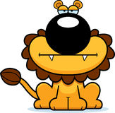 Cartoon Lion Bored Stock Image
