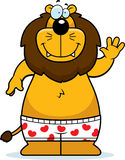 Cartoon Lion Boxers Royalty Free Stock Images