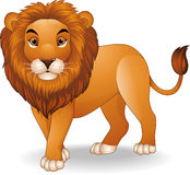 Cartoon lion character vector illustration