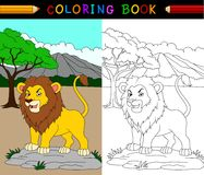Cartoon lion coloring book Stock Image
