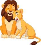 Cartoon lion couple. Illustration of Cartoon lion couple vector illustration