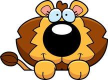 Cartoon Lion Cub Peeking Stock Photos