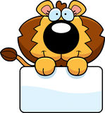 Cartoon Lion Cub Sign Royalty Free Stock Photography