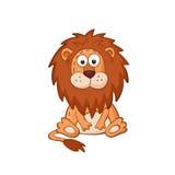 Cartoon lion. Cute cartoon animal. Cartoon lion character. Stuffed toy Royalty Free Stock Photography
