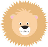 Cartoon lion face Stock Photos