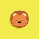Cartoon Lion face Royalty Free Stock Photography