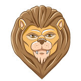 Cartoon Lion Head Royalty Free Stock Image