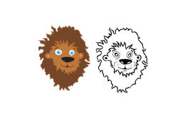 Cartoon lion head vector Royalty Free Stock Photo