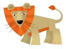 Cartoon lion - illustration for the children Royalty Free Stock Images