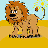 Cartoon lion Stock Images
