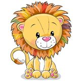 Cartoon lion isolated on a white background Royalty Free Stock Photo