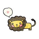 cartoon lion with love heart Royalty Free Stock Photo
