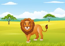 Cartoon lion mascot Royalty Free Stock Photos