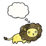 cartoon lion  (raster version) Royalty Free Stock Photo