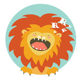 Cartoon lion roaring Royalty Free Stock Images