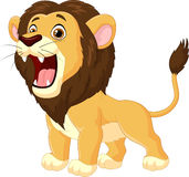 Cartoon lion roaring Stock Photography