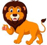 Cartoon lion roaring Stock Photos