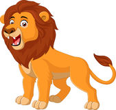 Cartoon lion roaring Royalty Free Stock Image