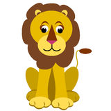 Cartoon Lion. Sitting lion cartoon clipart on white background Royalty Free Illustration