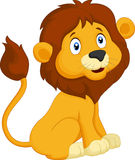 Cartoon lion sitting Stock Images