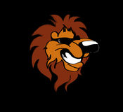 Cartoon lion. Smiling cartoon lion with sunglasses Royalty Free Stock Image