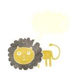 Cartoon lion with speech bubble Royalty Free Stock Photo
