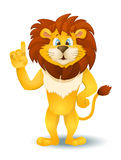 Cartoon lion standing and pointing. vector Stock Image