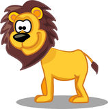 Cartoon lion,vector Stock Image