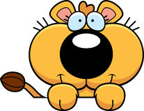 Cartoon Lioness Cub Peeking Stock Photos