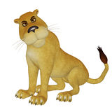 Cartoon lioness Stock Photos