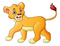 Cartoon lioness isolated on white background Royalty Free Stock Images