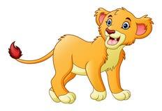 Cartoon lioness isolated on white background Stock Image