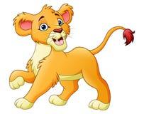 Cartoon lioness isolated on white background. Illustration of Cartoon lioness isolated on white background Stock Image