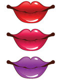 Cartoon lips Royalty Free Stock Image