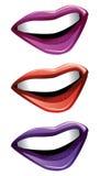 Cartoon lips Stock Image