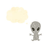 Cartoon little alien Stock Photography