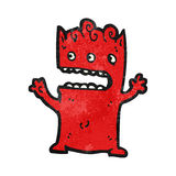 Cartoon little alien monster Royalty Free Stock Photos